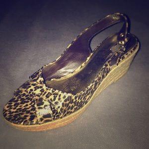 Cheetah print wedge